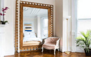 extend and enhance the room, use mirrors