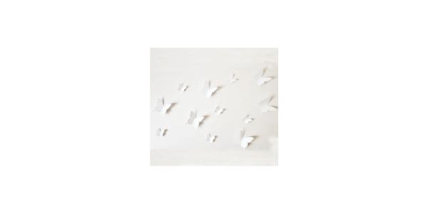 White Butterfly Wall Sticker