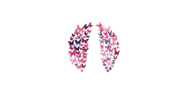 Diuangfoong 2 3D Wall Butterflies Sticker