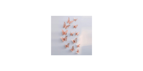 3D Wall Stickers Reflective Butterfly
