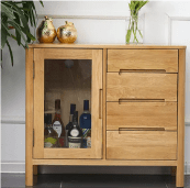 Solid Wood Sideboard Kitchen Cabinets
