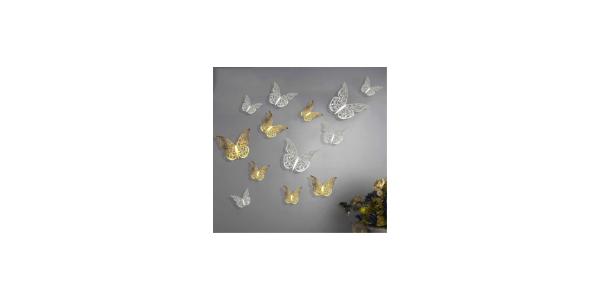 old Hollow 3D Wall Butterflie
