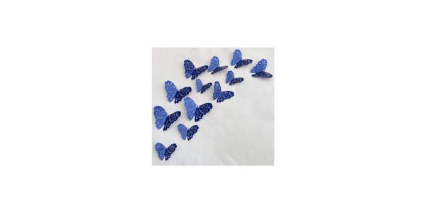 Royal Blue 3D Wall Butterflie