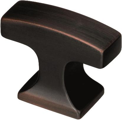 Amerock Square Cabinet Knob, Oil-Rubbed Bronze