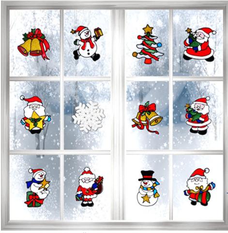 Boao Christmas Window Sticker