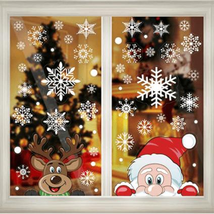 CCINEE Christmas Window Clings