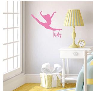 Custom Vinyl Decor Personalized Gymnastics Wall Decal