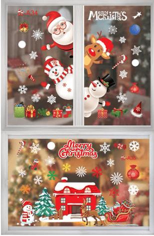 Esther Beauty Christmas Window Sticker