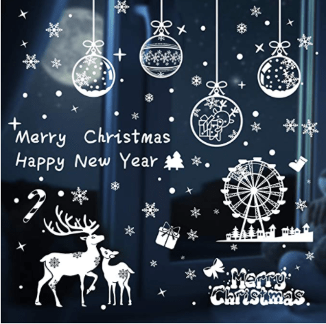 Free Yoka Christmas Window Clings