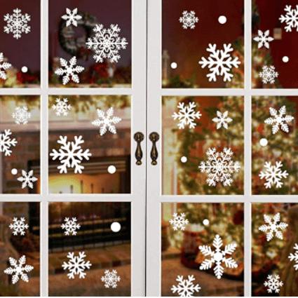 HEEKPEK Christmas Snowflake Window Clings Decal