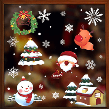 Hidreams Christmas Window Clings