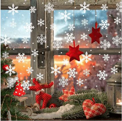 Lansian Snowflakes Window Clings