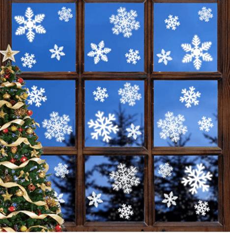 Leipple Christmas Snowflake Window Clings