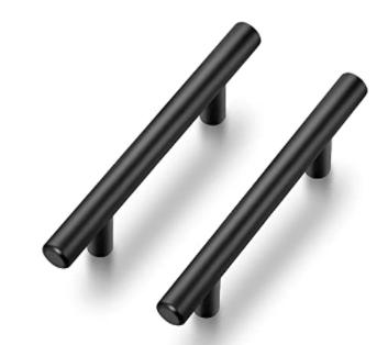 Ravinte Cabinet Pulls Matte Black Stainless Steel Handles