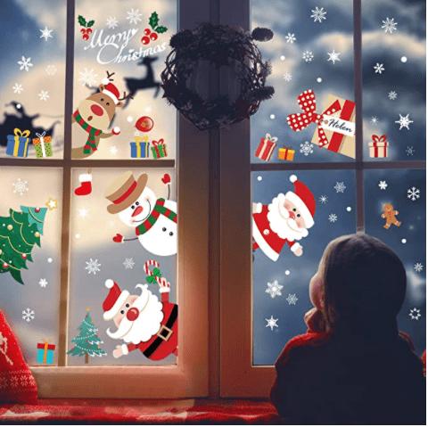 Yoka Christmas Window Stickers