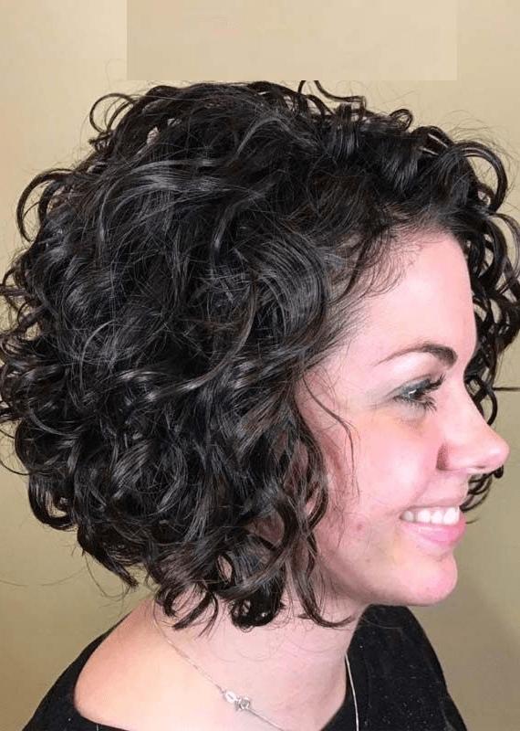 Curly Hair or Waves Short Hair