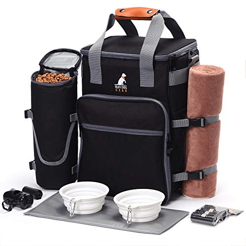 Dog Backpack with Pet Food Container