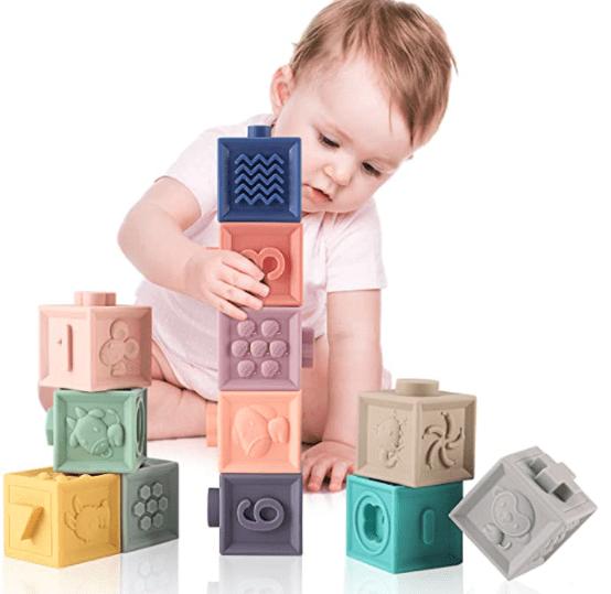 MIXI Baby toys Blocks, Soft Blocks for Babies