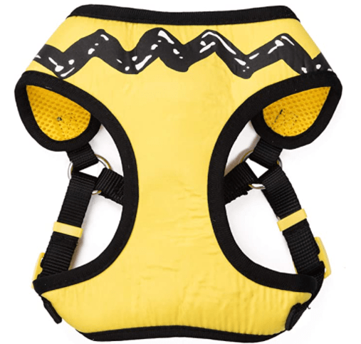 Peanuts for Pets Charlie Brown Yellow Dog Harness