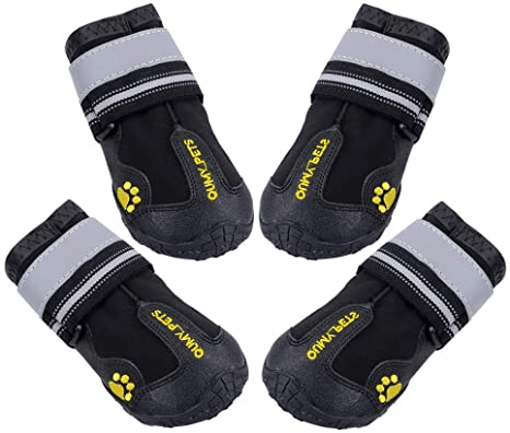 QUMY Waterproof Boots for Dogs