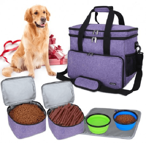 Teamoy Double Layer Dog Travel Bag