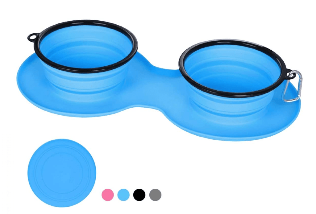 WINSEE Collapsible and Portable Silicone Dog Bowl