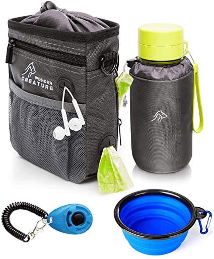 Dog Treat Pouch with Bottle Holder
