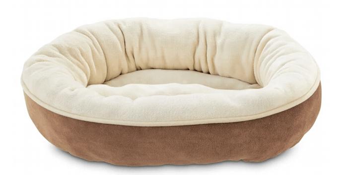 Animaze Brown Circle Bolster Dog Bed